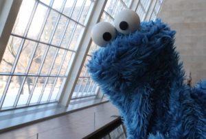 Pensamentos Duche Simplesmente deliciosos com Cookie Monster