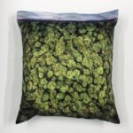 Bag of grass as pillowcase