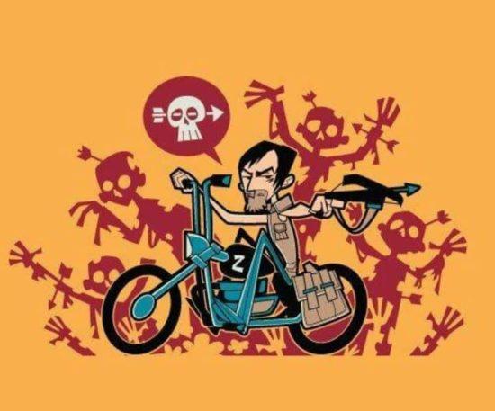 Daryl Dixon Motosiklet Gömlek