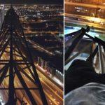 PÃ¥ en kran i Dubai