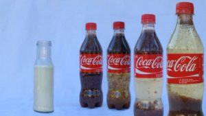 Milch in der Cola