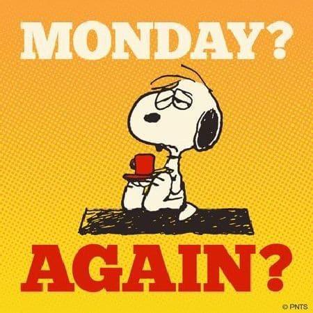 Segunda-feira? novamente?