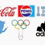 Penised: Logos bestückt mit Phallussymbolen