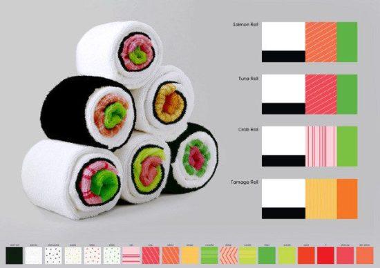 Asciugamani sushi
