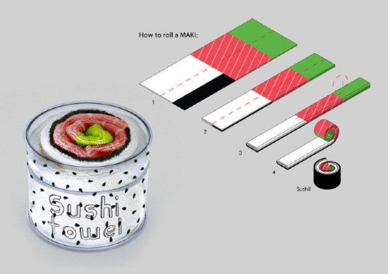 Sushi Handtücher
