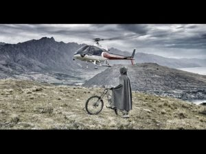 O Hobbit Heli Mountain Bike na Nova Zelândia