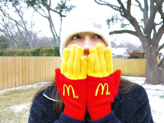 McDonalds fries handsker
