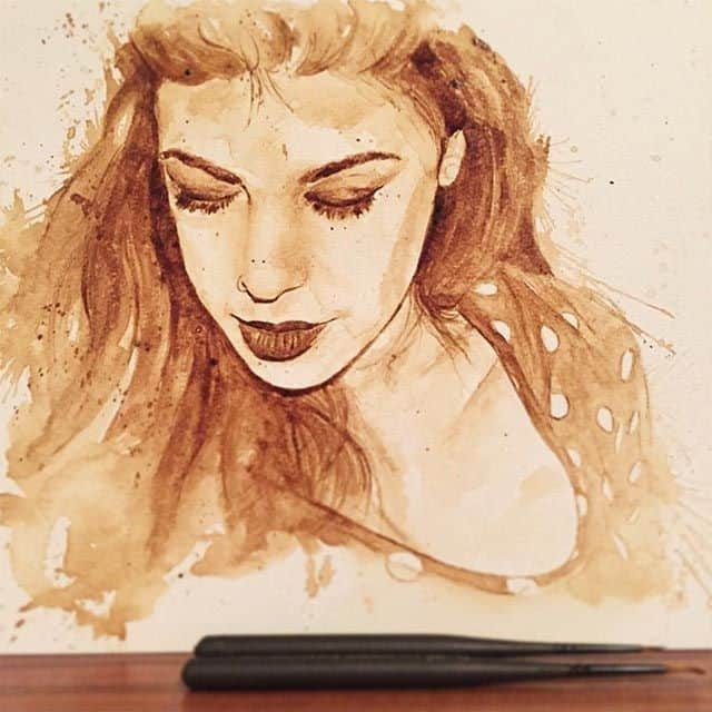 Maria A. Aristidou - slikarica kavom Coffee-drawings_02