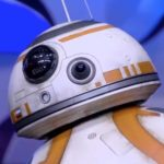 De BB-8 droid op de Star Wars Celebration Stage