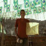 Dragão luta sobre as favelas do Rio de Janeiro