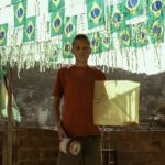 Drachenkämpfe über den Favelas Rio de Janeiros