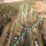 Ride on the world's largest roller coaster from the first-person view
