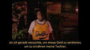 """Notorious B.I.Gs """"Juicy"""" translated by Google Translate into German"""