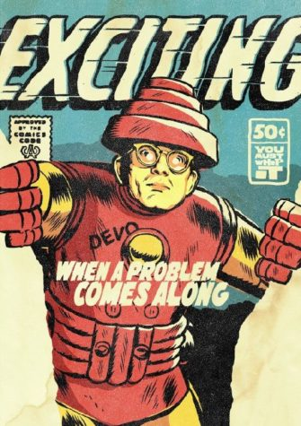 Mark Mothersbaugh z Devo jako Iron Man