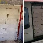 Entraîner Bricked - Unknown porte de voiture Étayer d'un train de banlieue à