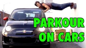5 Parkour Stunts on Moving Cars
