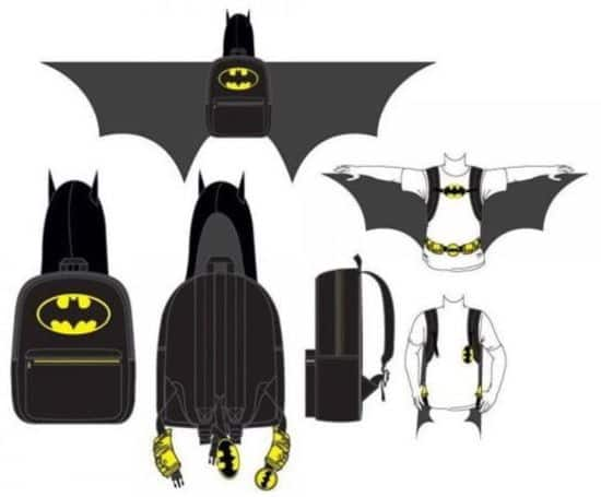 Batman backpack with wings