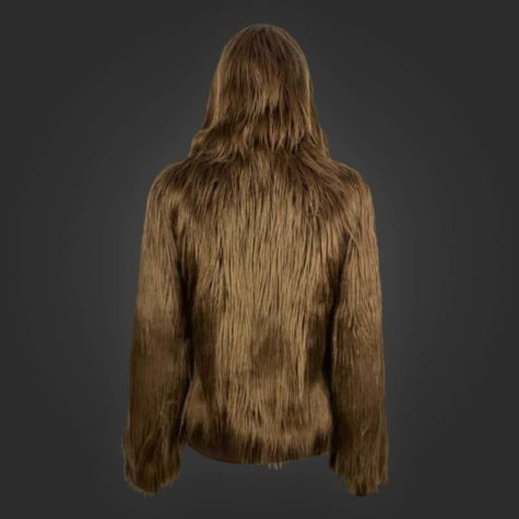 Fluffy hooded jacket in Chewbacca look