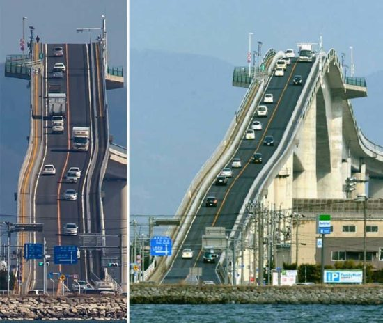 This bridge in Japan looks like a roller coaster