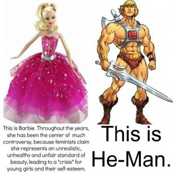 Barbie vs. He-Man
