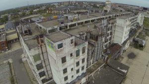 flown with a drone over the abandoned Detroit