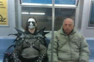No outro dia no metrô