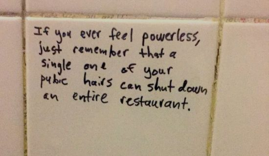 If you ever feel powerless...