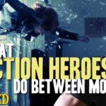O que fazer heróis de ação entre os filmes