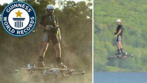 Weltrekord auf schwebenden Hoverboard