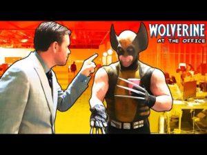 Wolverine im Büro