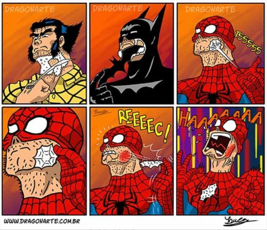 Dragonarte: Grappige superheld strips