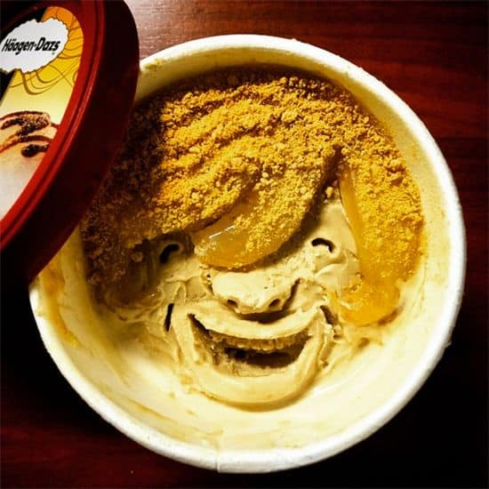 Faces in Häagen-Dazs ice cream