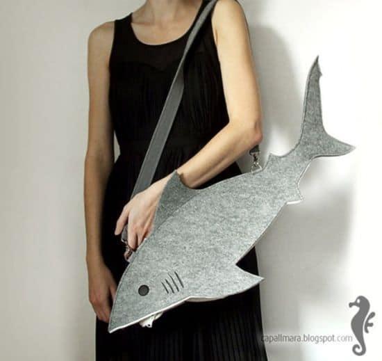 Die Hai Handtasche
