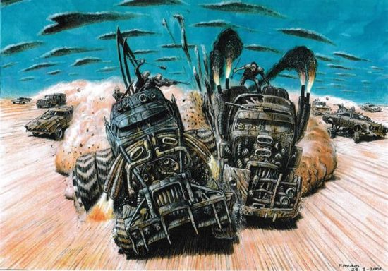 """Mad Max: Fury Road"" Arte conceitual"