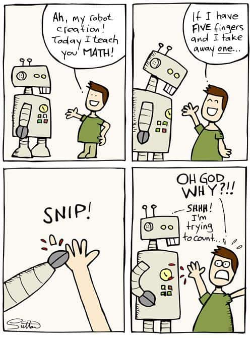 Math teaching for a robot