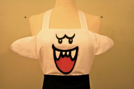 Le Boo Super Mario comme un tablier