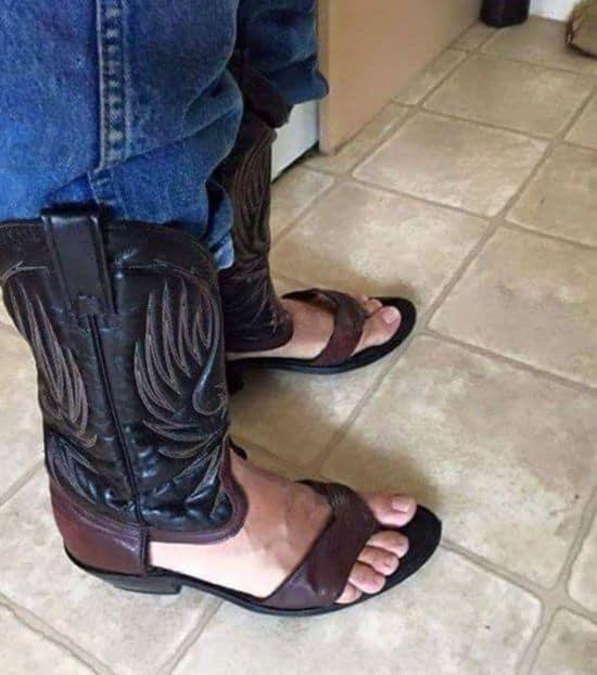 Cowboy Sandalen