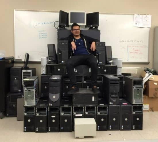 A throne fit for the IT King