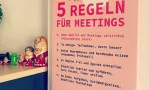 Fünf Regeln für Meetings