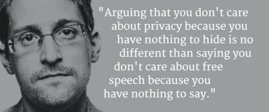 """Edward Snowden zu """"Ich habe doch nichts zu verbergen"""""""
