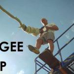 Suelte Cuando Bungee Jump en el punto más bajo