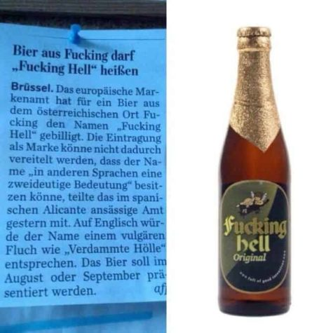 Fucking Hell: A light beer from the region Fucking
