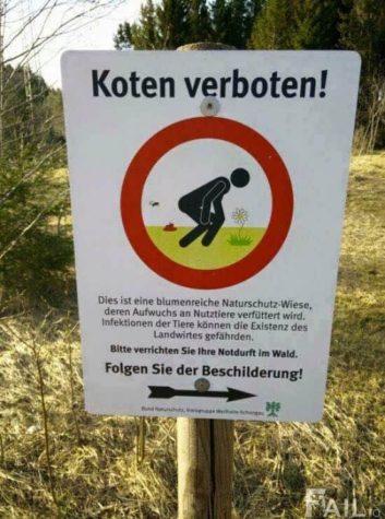 Koten verboten!