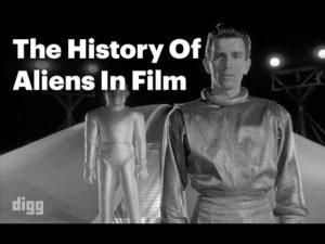 Historien om Aliens in Film