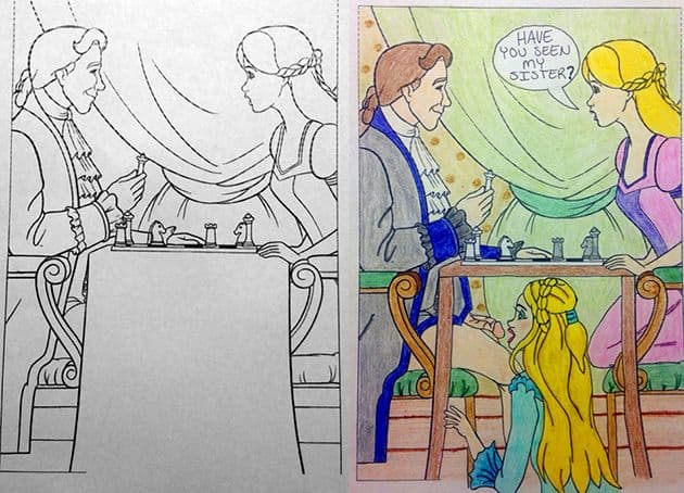 Coloring Book Corruptions Interpreted With A Difference