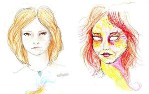 Wirkung von Drogen: 11 Selbstportraits innerhalb von 9 Stunden unter LSD