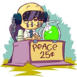Schattige Vic Rattlehead: Peace Sells But Who's Buying?