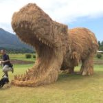 Straw monsters ravage Japan