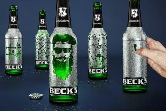 This beer brings out the artist in you: Becks Scratchbottle