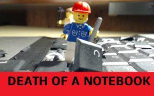 Death of a Notebook: Lego-Figuren zerstören eine Laptop